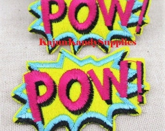 """Embroidery """"Pow"""" Patch"""