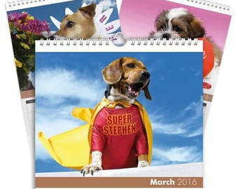 Personalised Dogs Calendar - Desktop Calendar