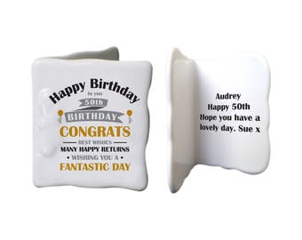 Personalised Birthday Celebration Message Card