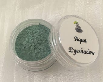 Mineral Eyeshadow - Aqua Eyeshadow - Green Eyeshadow - Vegan Makeup - Mineral Makeup - Natural Eyeshadow - Vegan Mineral Makeup - Aqua