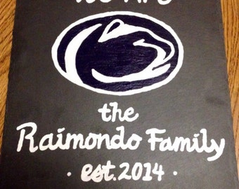 "Penn State ""We Are"" Family Established Canvas"