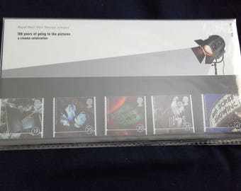 Royal mail stamps centenary of cinema 1996 stamp presentation pack No266