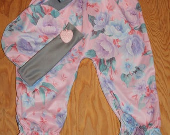 Harem pants 3-36 months, fabric very soft and comfy for baby, 100% polyester silk