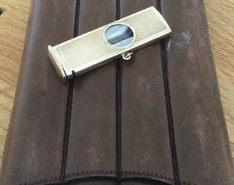 SALE***Superb vintage 9ct yellow gold cigar cutter and cigar case