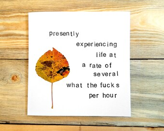 Experiencing Life at a WTF Rate - Sympathy Card