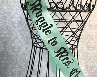 Muggle to Mrs Personalized Bridal shower/ bachelorette party sash