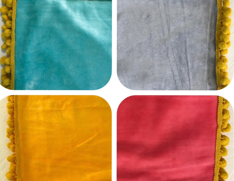Baby Blanket / Organic Cotton Velour / Aqua Blue / Unisex / Toddler / Boy Girl / Warm / Shower Gift / Swaddle / Nursery Décor / Crib /Winter