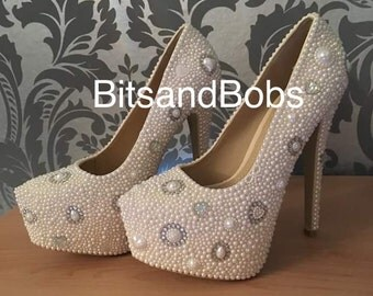 Princess Cinderella wedding prom heels
