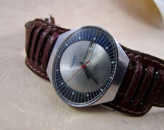 SOVIET POLJOT Stadium USSR rare vintage men's mechanical wristwatch N6