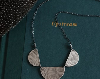Sterling Silver Mountain Necklace - Topo Necklace - Reversible