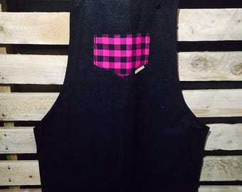 Ready to go/apron woman / choice of color / lumberjack/kitchen apron/lumberjack