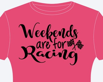 Weekend's Are For Racing Checkered Flag Shirt