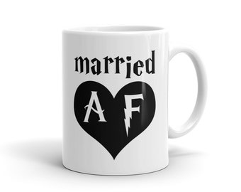 Married AF Mug, Married Mug, Husband Gift, Just Married Mug, Husband Mug, Wife Mug, Groom Mug, Bride Mug, Wife Gift Wife Mug for Mug #1209