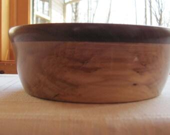 Hand-crafted Birch/Walnut wooden bowl