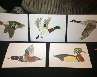 LunkerArt Note Cards - Fowl - Made in USA