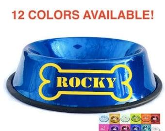 Personalized Dog Bowls with Bone - Custom Dog Bowl - Personalized Dog Dish - Personalized Pet Bowl - Dog Bowl with Name - Customized Bowl