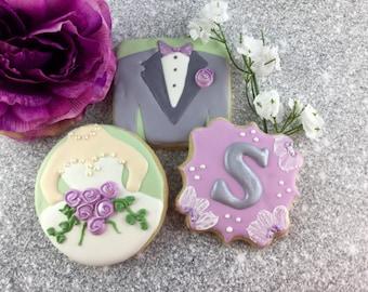 Bride, Groom, Monogram, Wedding, Luncheon, Rehearsal Dinner, Shower, Favor, Cookies!