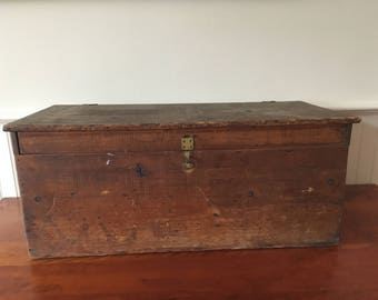Vintage Wooden Machinist Tool Box Wooden Chest Wood Tool Chest Wooden Tool Chest Vintage Tool Box Wood Box Wood Crate Wooden Box Industrial