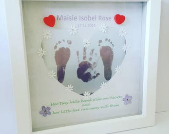 Custom Hand Print Or Foot Print Painting Artwork Keepsakes