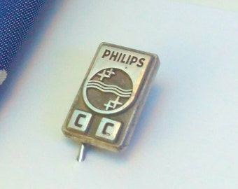 Vintage, silver, Phillips, Phillips stick pin, silver stick pin, advertising, advertising stick pin, lapel pin, silver lapel pin, tie pin,