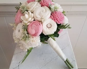 Large Blush and cream Sola bridal bouquet
