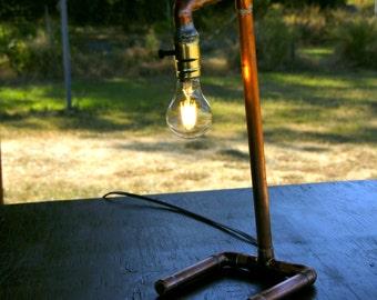 Steampunk  Copper Pipe Lamp