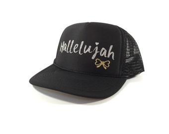 Le Bow Couture Hallelujah Trucker Hat-Silver/Black (Adult)