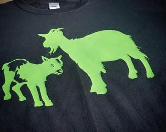 Goat Shirt, Goat Mom Shirt, Goat Mom and Kid Shirt, Farm Animals Shirt, Farm Shirt, Animal Shirt, Goat Life, Short Sleeve