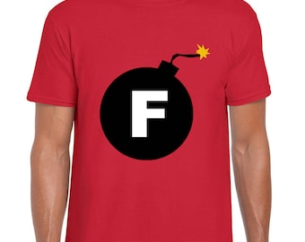 Dropping the F Bomb Funny T shirt Men's Ladies sizing Red