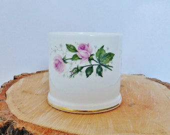 Vintage Crown Staffordshire Bone China Pot