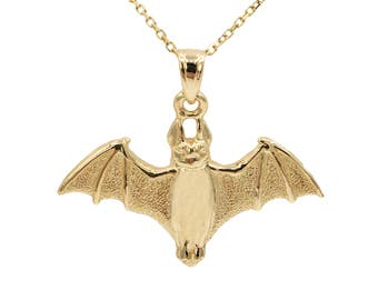 10k Yellow Gold Bat Necklace