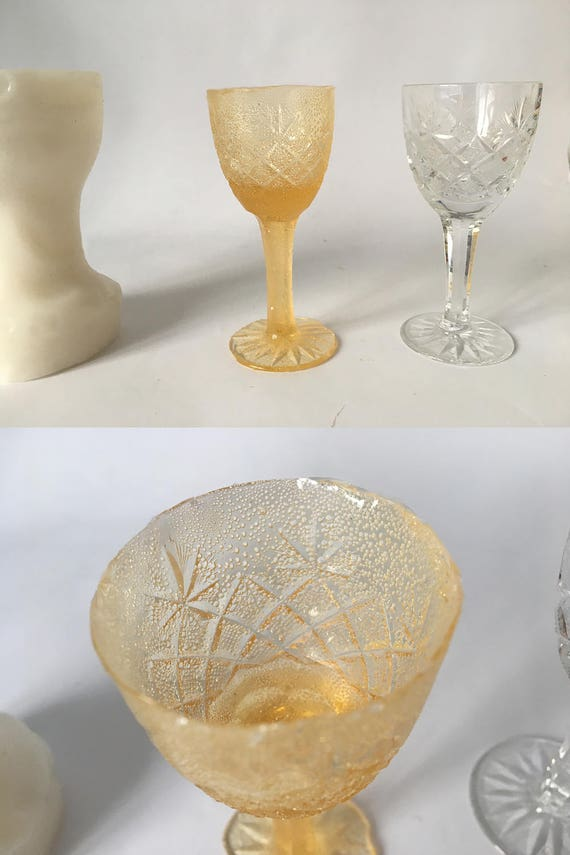 3d wine glass silicone mold mould isomalt sugar chocolate for 3d printer cake decoration