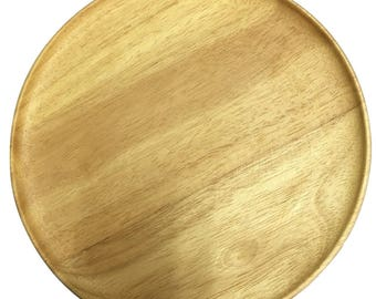 Wooden Plate, 12 inches (30 cm.) Sale 10 usd, Normal price 14 usd