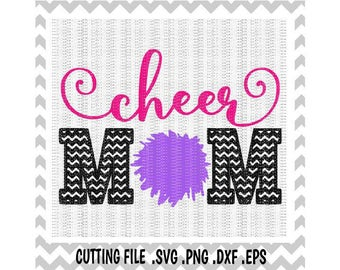 Cheer Mom Svg, Svg-Dxf-Png-Eps, Cut Files For Silhouette Cameo & Cricut, Svg Download.