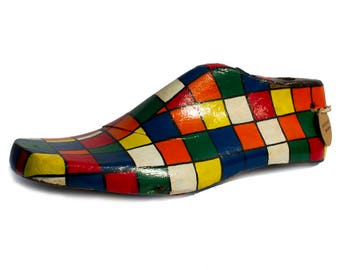 Cubic/Artistic/Shoe mold/Vintage/Wood
