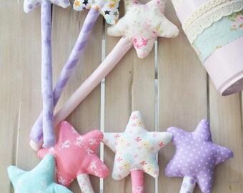 Magic Wand. Princess Wand. Fairy's Wand. Star Wand. Fabric Wand. Witch's Wand. Magic Wand Gift. Girly Wand. Floral Wand. Wand Gift.