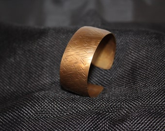 Large Hammered Copper Cuff Bracelet #121916-008