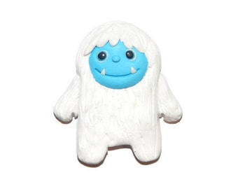 Winter Snow Yeti Abominable Snowman Animal New Handmade Polymer Clay Magnet/Bead/Figure Charm Pendant Ornament
