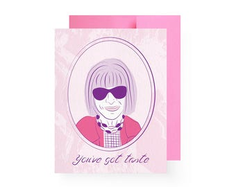 Anna Wintour Boss Lady Compliment Card