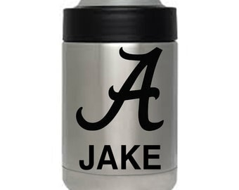 12 oz yeti colster Alabama Roll Tide engraved personalized custom Christmas gift Authentic