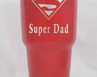20 30 12 10 oz Superman Fathers Day gift RTIC YETI custom engraved