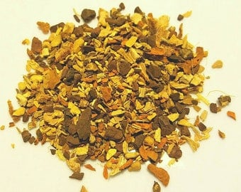 Lick It n Kick It - Herbal Root Tisane, Tea for Colds, Infection Fighter, Immune Building, Ginger, Licorice, Turmeric, Cinnamon, Lemon Peel