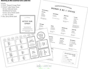 Mommy & Me // Essential Oils Label Kit