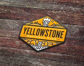 Yellowstone National Park - Vinyl Sticker