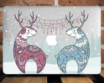 Winter Deers MacBook Case Mac Book Pro 13 Case Macbook Pro Retina 13 Inch Valentine's Gift Vintage New Mac Pro 13 Case Hard Plastic WCm041