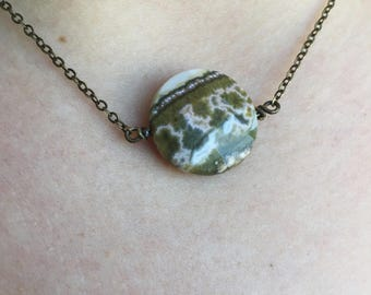 Faceted Round Agate Necklace
