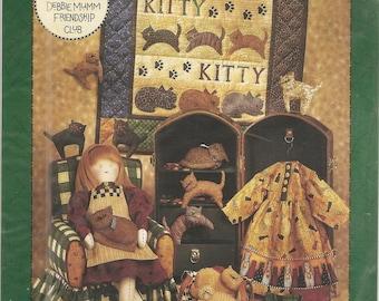 Debbie Mumm Miss Kitty Doll, Wallhanging and Stuffed Kitties AP-53 NEW