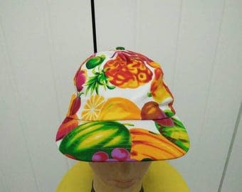 Pop Art FRUITS Full Printed Cap Hat Free size fit all