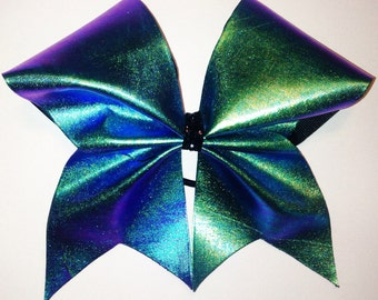 Cheer bow - holographic fabric - metallic fabric - overlay bow - you pick the fabric