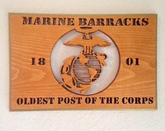 Marine Corps Barracks Plaque
